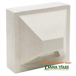 Gạch bông gió bánh ú xi măng trắng Danatiles BU-01