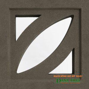 Gạch bông gió xi măng Danatiles D-01 màu đen