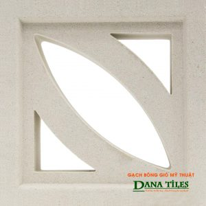 Gạch bông gió xi măng trắng Danatiles D-01
