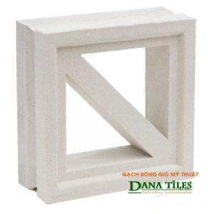 Gạch bông gió xi măng trắng Dana tiles D-011
