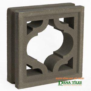 Gạch bông gió xi măng Dana tiles D-013 màu đen