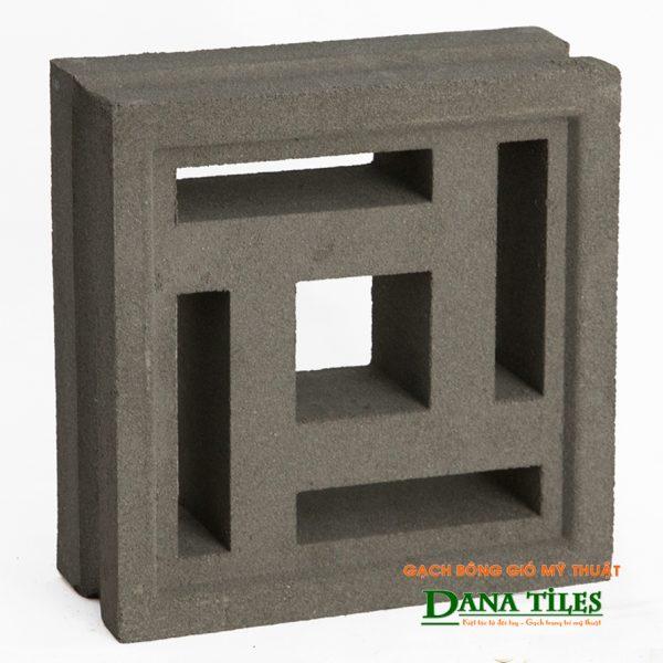 Gạch bông gió xi măng Dana tiles D-03 màu đen