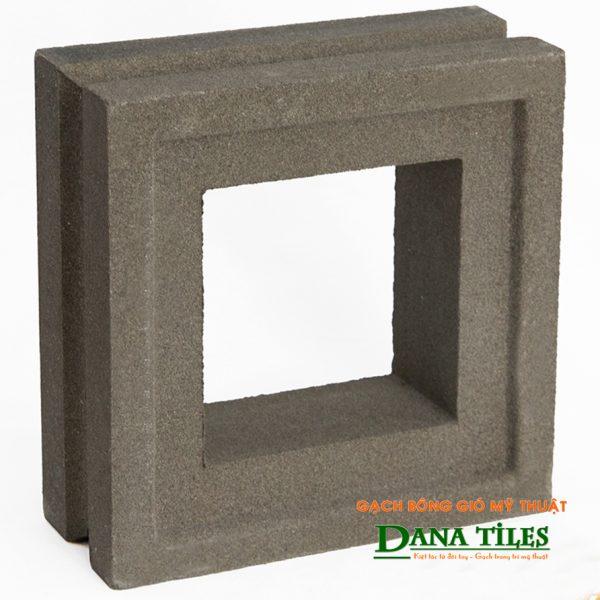Gạch bông gió xi măng Dana tiles D-07 màu đen