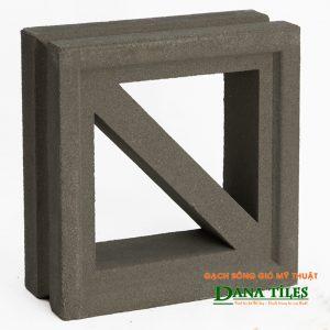 Gạch bông gió xi măng Dana tiles D-011 màu đen