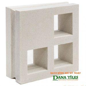 Gạch bông gió xi măng trắng Dana tiles D-012