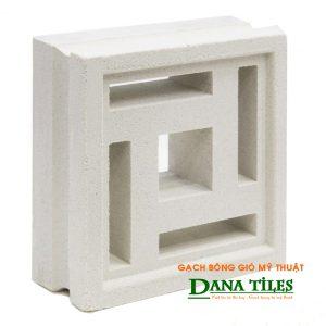 Gạch bông gió xi măng trắng Dana tiles D-03