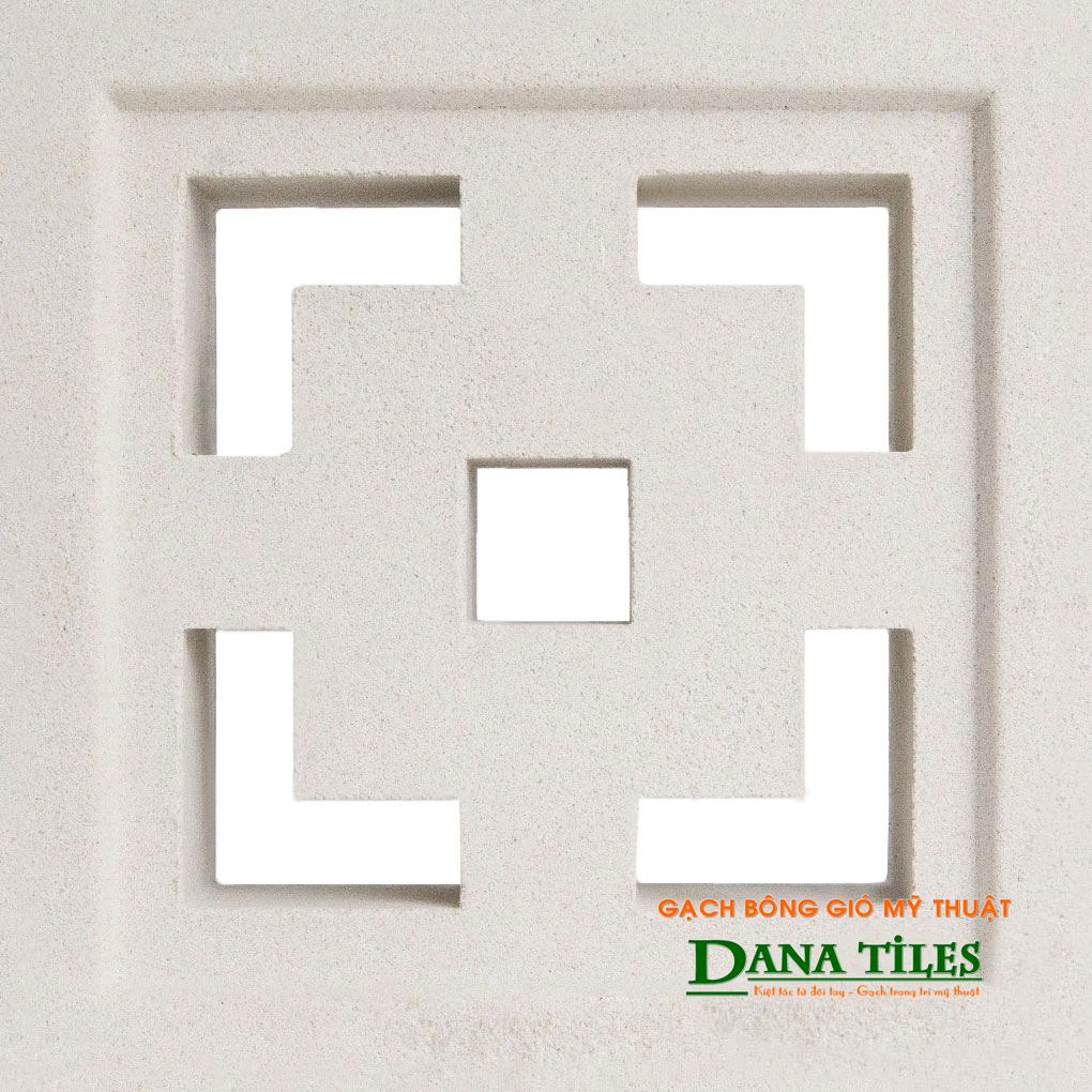 Gạch bông gió xi măng trắng Danatiles D-08.jpg