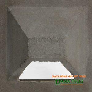 Gạch bông gió bánh ú xi măng Dana tiles BU-01 màu đen